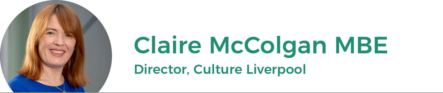 Claire McColgan MBE: Director of Culture Liverpool