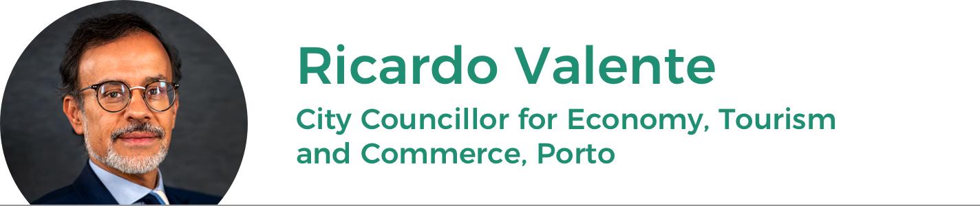 Councillor Ricardo Valente, for Economy, Tourism, and Commerce, Porto